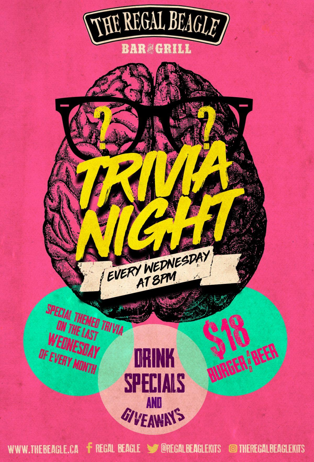 Trivia Night - every Wednesday